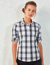 Ginmill Check Womens Long Sleeve Cotton Shirt